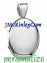 Gorgeous sterling silver oval locket