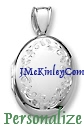 Gorgeous sterling silver floral oval locket