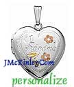 Sterling silver heart locket Number One Grandma locket