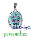 Small sterling silver Cloisonne locket