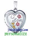 Sterling silver mom locket