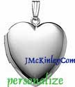 Plain sterling silver large heart locket
