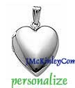 Plain small sterling silver heart locket