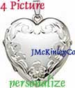 EXTRA LARGE Sterling silver four picture locket
