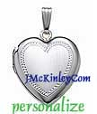 Sterling silver heart locket satin finish