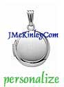Small sterling silver round locket