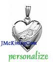 Small sterling silver heart locket
