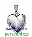 Small sterling silver Cross locket