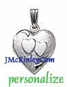 Small sterling silver double heart locket