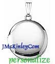 Sterling silver plain round locket